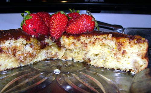 Торт с грецкими орехами и рикоттой