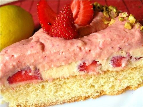 Сейчас сезон клубники, поэтому тоже покажу несколько клубничных тортов Обсыпной торт с клубничным к... - 6