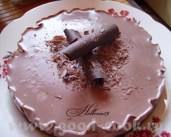 Шоколадно кокосовый мусс Торт уехал на работу,потому разреза нету