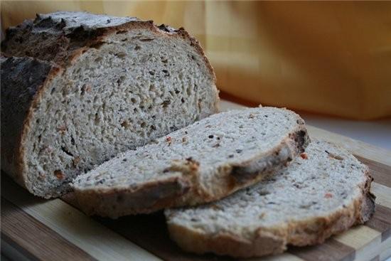ХЛЕБ «ЗЛАКОВЫЙ» -350 гр пшеничной муки -30 гр ржаной -40 гр хлопьев «4 злака» или геркулесовые - 2