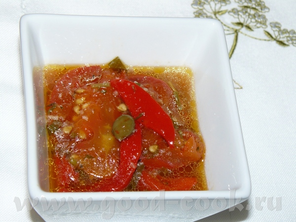 Салат из помидоров из духовки