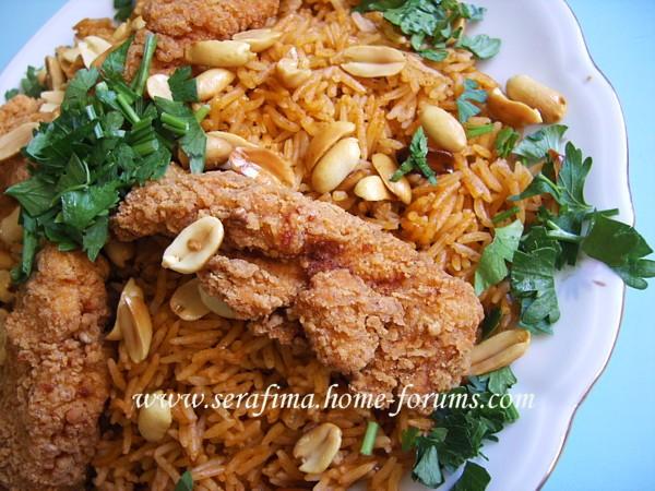 Кабсе (кабса) Красный прянный рис с курицей Арабская кухня - 3