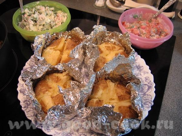"""Блюда от Nikoletta, """"Заходи На Огонёк"""" печёная картошка без хлопот - помыл и в печку только у моей..."""