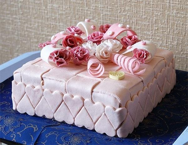 Торт на день рождения из мастики своими руками