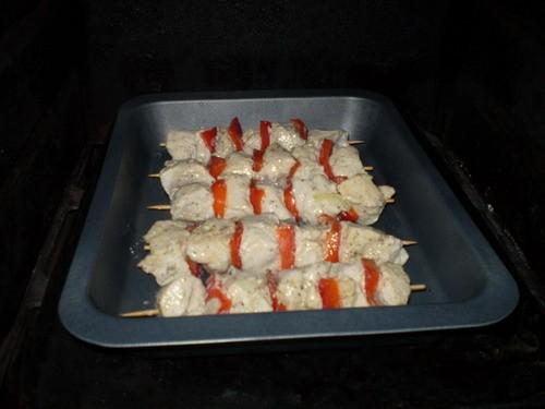 Аппетитные шашлычки На 5 шпажек: 4 куриных филе 1 красный сладний перец соль, перец, сушоный базили... - 3