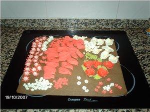 Мастику делаю из маршмелоу(покупала в Алди,Меркадона,есть в Диа,но там цветные) Вот такие конфетки... - 2