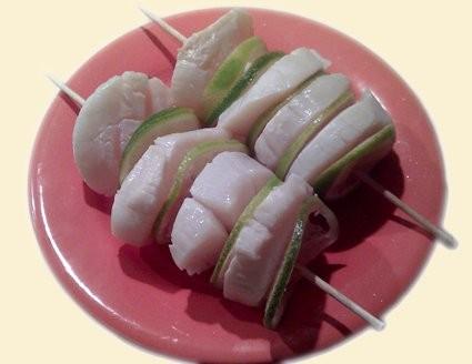 Мраморные равиоли с креветками (пельменное тесто+зелен, вместо фарша - креветка целтком или перемол... - 2