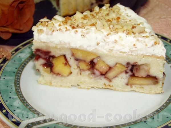 """Пирог с яблоками и кремом из """"Рикотты"""" - 2"""