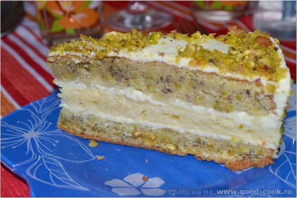 Корж из фисташков для торта