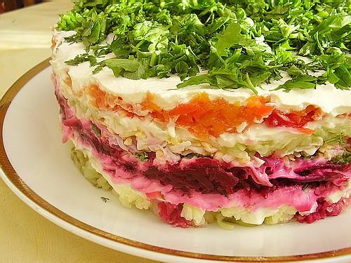 Еще большая благодарность: Гюле - за ее очень вкусный салатик НЕЖНОСТЬ