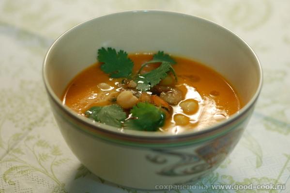 тыквенный суп с креветками 2