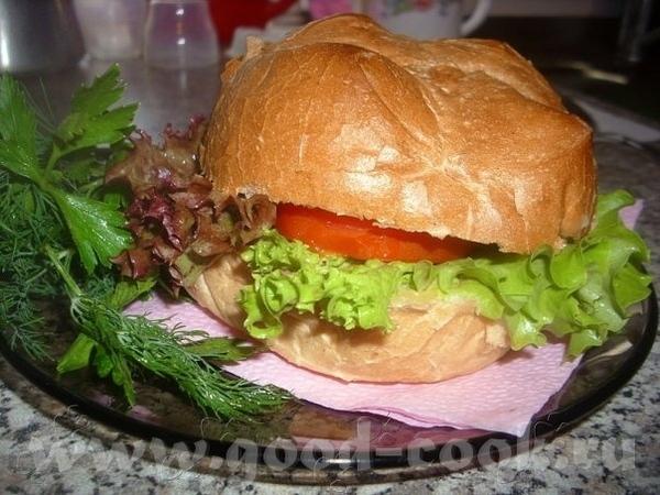 А мой муж изобрел собственный рецепт гамбургера Булочка для гамбургера 2 ч