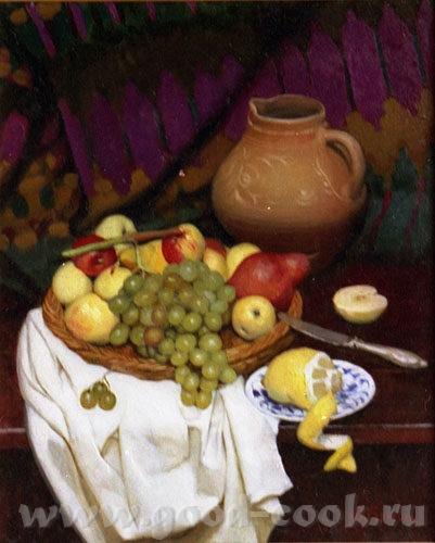 кселена я читала что для кухни, лучше всего натюрморт делать с персиками апельсинами, ярких цветов,... - 8