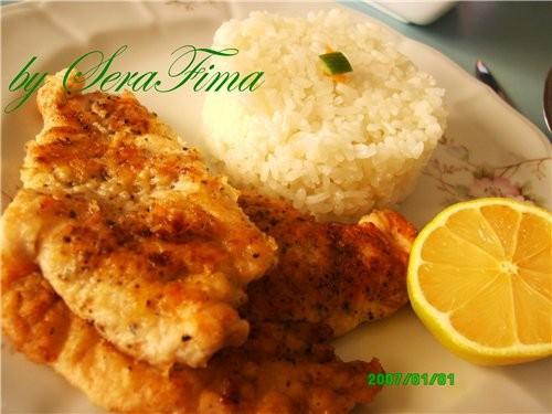 Отбивные (стейк) из куриного филе - куриное филе 1 большой курицы - соль, черный перец - стакан-пол...