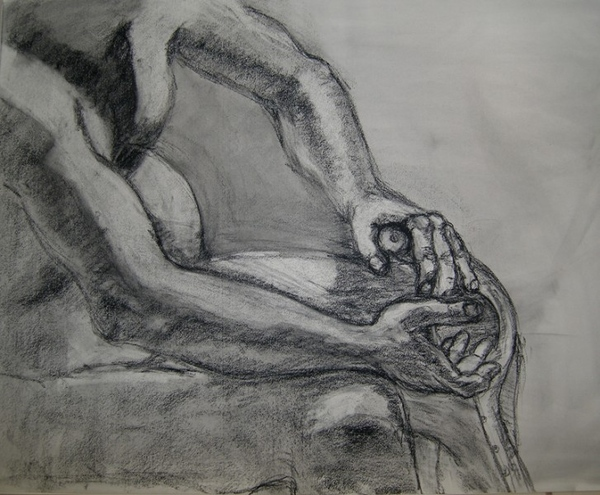 Ща я вам навалю своих рисунков Figure drawing типа надо было вписать в лист, чтобы фигура касалась... - 7