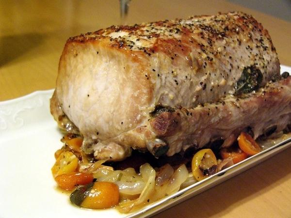 Запеченая свинина с шалфеем