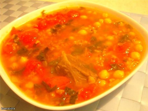 """(марокканский рисовый суп) кухня: марокканская источник: журнал """"Гастрономъ"""", #11(34), 2004 Что нуж..."""