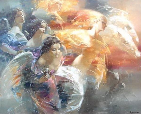 Девочки и мальчики, набрела сегодня на ещё одного художника, поклонника женской красоты Роман Гарас... - 3