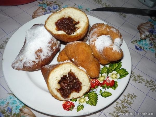 Галя у меня пончики есть на кефире с содой может они 0,5 л кефира+ 2-3 яйца сбить с150гр сахара + п...