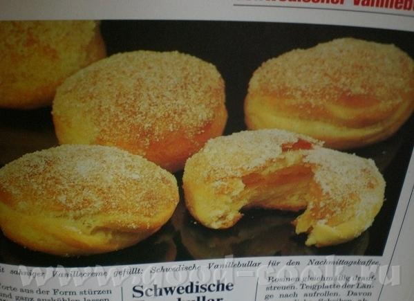 Schwedische Vanillebullar Шведские ванильные булочки Menь Backen von A-Z 1977 by ORBIS-Verlag fьr P...