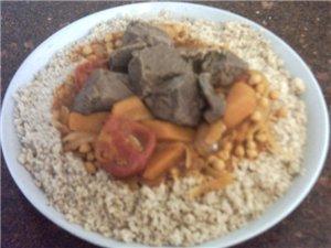 вчера готовили мафтуль(кус -кус) Палестинский Рецепт здесь но на этот раз приготовила его не с кури...