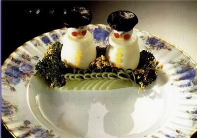 Украшения в виде фигурок снеговичков, лесовичков или гномиков Нужны круто сваренные куриные яйца и...