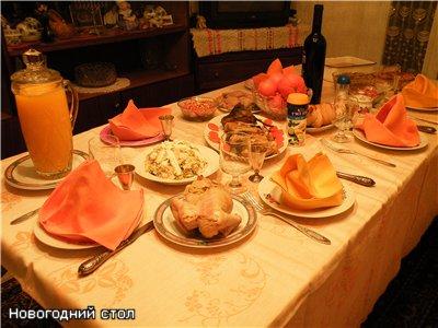 Вот мой новогодний стол : - холодец, - гефелте-фиш, - говяжий язык, - рулет из индюшачьей грудинки...