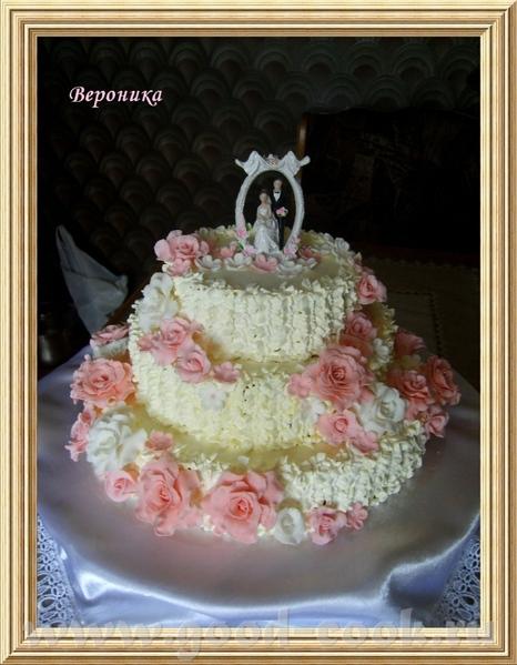 Вот и мой дебют со свадебным тортом
