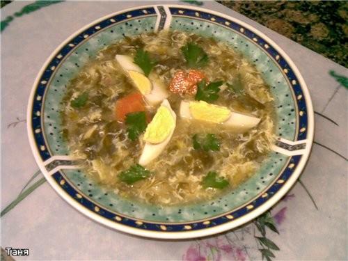 Суп-пюре из брокколи Рыбный суп с клецками и соленым огурцом Борщец наскоро с черносливом Суп с фас... - 5