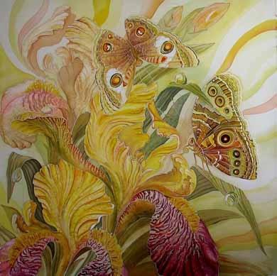 Попробуй смыть листья,в акварели можно,на пол тона и сверху нарисуй другие,получится даже более инт...