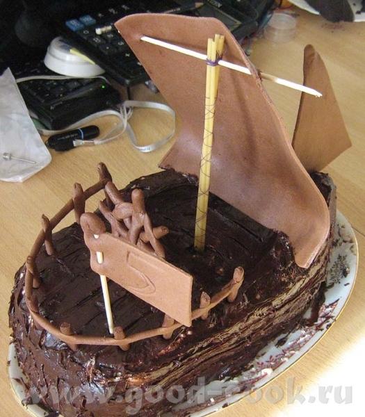 "Торт ""Пиратский галеон"" Коржи - Торт ""Шоколад на кипятке"" (Спасибо Моргане"