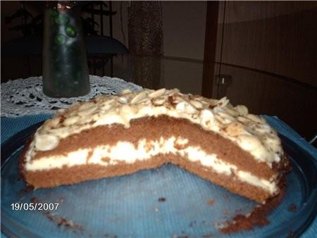 Шоколадный торт с апельсиновым кремом