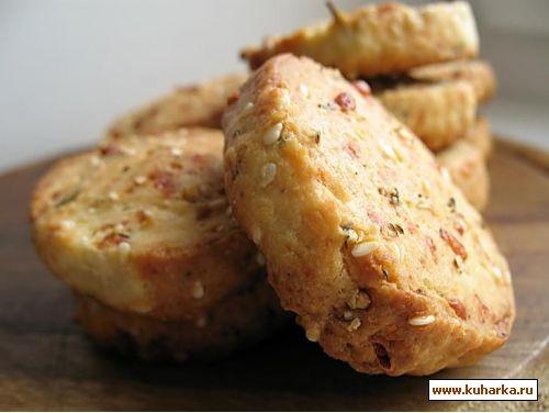 крекеры с кунжутом и перцем сырные рулетики с ветчиной и горчицей