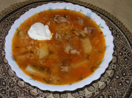 На обед я сегодня приготовила СУП-ХАРЧО Баранину с картошечкой