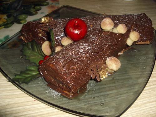 """Ну и всуну сюда мой новогодний десерт """"Рождественское полено"""" От Оли- Makosh (рецепт на КТ)"""