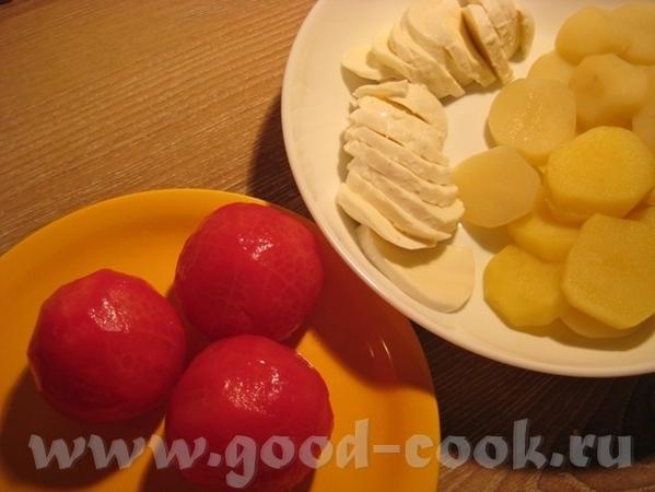 Тарт с картошкой, помидором и двумя сырами Рецепт теста взят в журнале Хлеб и Соль за август 2010 - 3