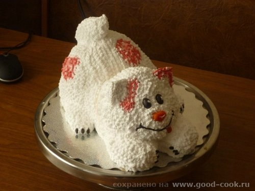 Торт кошка мастер класс из крема