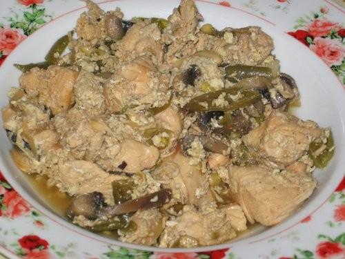 Куриные грудинки в вине с овощами Курица с баклажанами