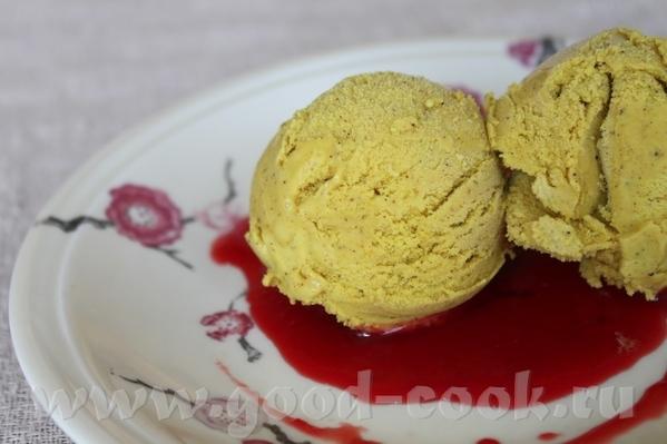 Мороженое с корицей и куркумой мороженое необычное и вкусное, лучше всего его подавать с ягодным пю...