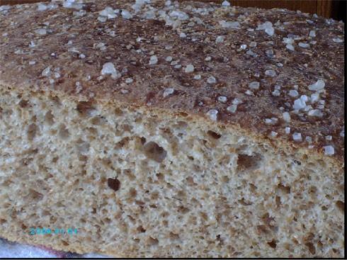 А я сегодня опять испекла хлеб из цельнозерновой муки с овсяными хлопьями - 2