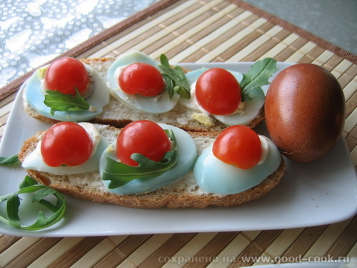 бутер-яйцо-черри