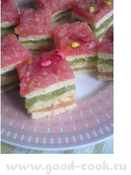 Пирожные с разноцветными яблоками Автор рецепта Krystyna9 c cook-talk