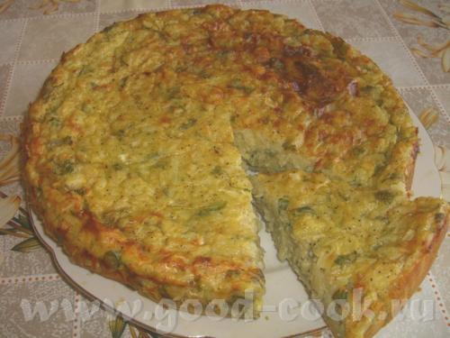 Картофельный пирог с пряной зеленью