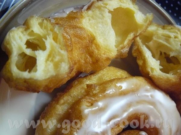 У нас продаются очень вкусные жареные в жиру из заварного теста кольца с глазурью и мои дети, особе... - 2
