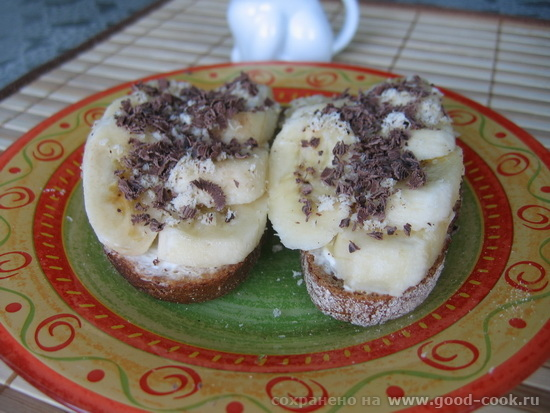 брускета с бананом