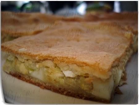 Пирог с капустой Тесто здесь на сливках