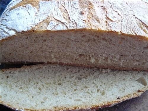 По быстрому намешала хлеб