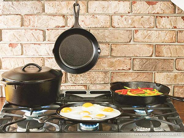 Чугунная посуда – максимум пользы и никакого вреда