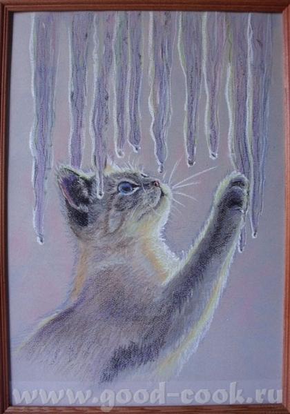 давай мне,а я если хош выставлю Выставляю работы оли Кубаночки Кот такой нежный - 2