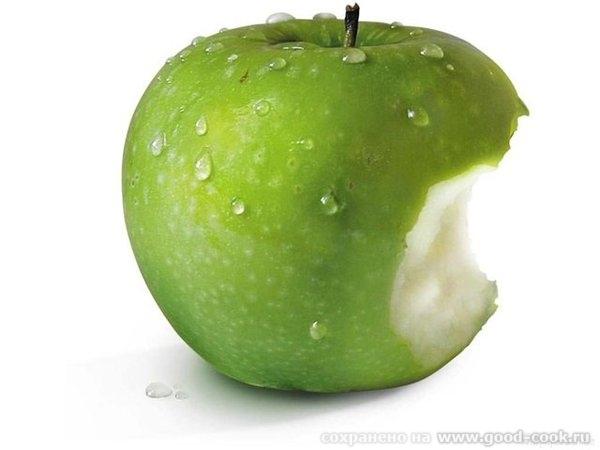 О!! Пришла домой дочка и говорит чтоб не белое плоское яблоко сделала, а объемное , реалистичное и надгрызанное!! Единст... - 3